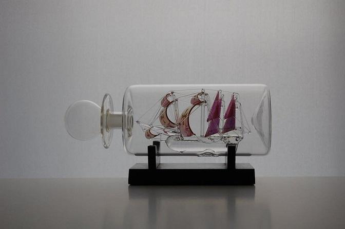 'Şişe İçindeki Cam Gemiler', Sergisi İskoç Deniz Müzesi'nde Açıldı.